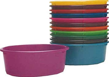 Fortiflex Mini Feed Pan for Dogs and Horses, 5-Quart, Green
