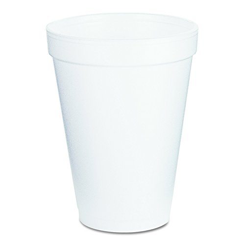 Ounce Foam 10 Bowl (Dart 12J16 Foam Drink Cups, 12oz, White (Case of 1000))