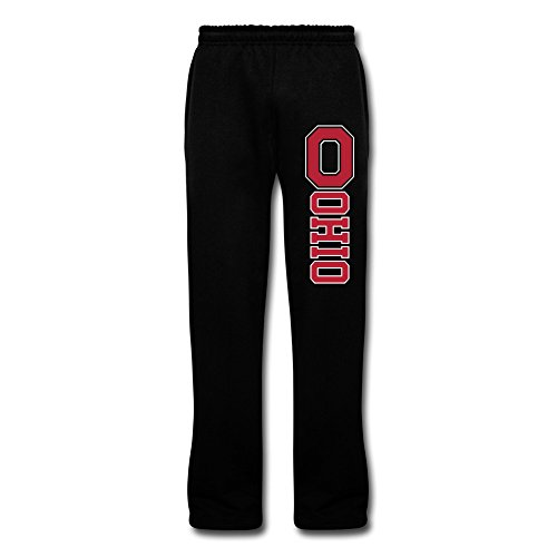 LaviV Men's Ohio State Buckeyes Wordmark Sweatpants Baggy