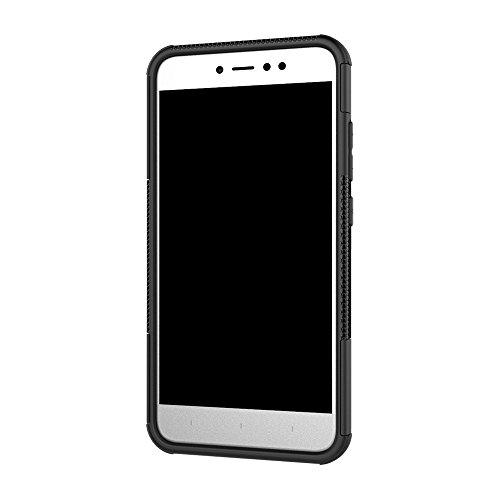 CarcasaXiaomi Redmi Note 5A, LifeePro Funda de la Caja del Teléfono a Prueba de Golpes TPU + PC Armadura Combinada híbrida Caso de Alto Impacto Durable Phone Defender (Púrpura) Negro