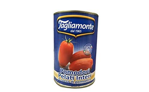 12x TAGLIAMONTE Pomodori Pelati Geschilde Tomaten Italiaanse saus in Het blikje 400g 100% Italiaanse tomaten