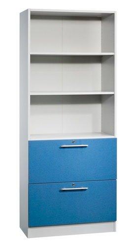 Aufbewahrungsschrank Solid Farbe (Korpus / Front): Grau / Blau, Grifftyp: Griffstange