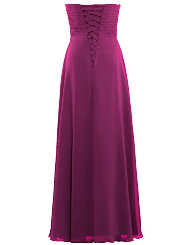 ANTS Long Women Party for Guest Dresses Maroon s Wedding Chiffon Pleat rqrxE6Bw