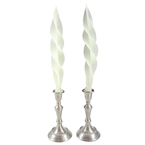 Beeswax Feather Taper Candle - 12 inches - Classic Ivory