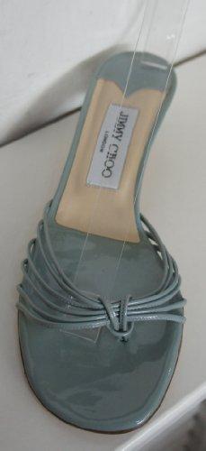 """Jimmy Choo """"Topazio Verde chiaro in pelle brevetto Strappy Mules"""