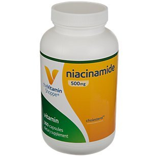 The Vitamin Shoppe Niacinamide 500MG, Supports Cholesterol Levels Already Within The Normal Range, Once Daily (300 Capsules)