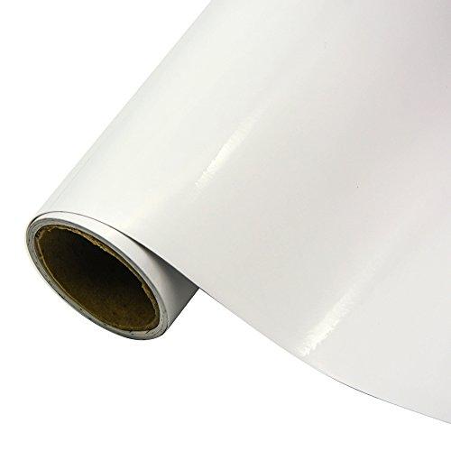 TECKWRAP White Gloss Car Vinyl Wrap Roll with Air Release Technology 11.5x 55