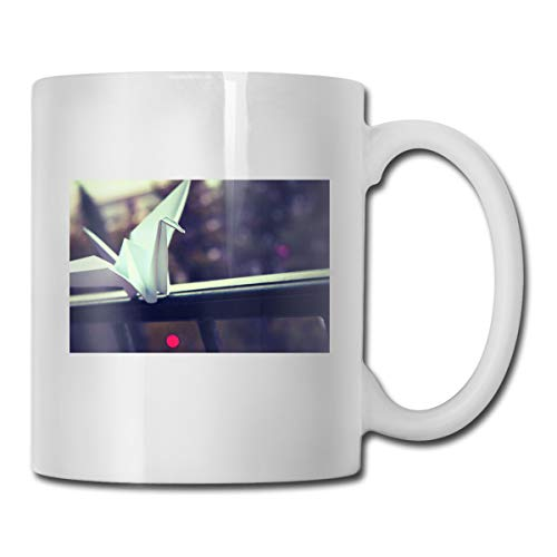 Porcelain Coffee Mug Origami Paper Crane Ceramic Cup Tea Brewing Cups for Home -