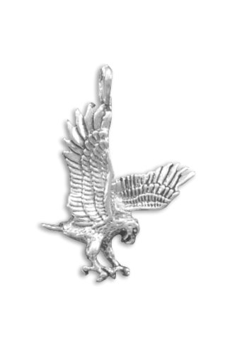 [Corinna-Maria 925 Sterling Silver Bird Eagle Pendant] (Sterling Eagle)