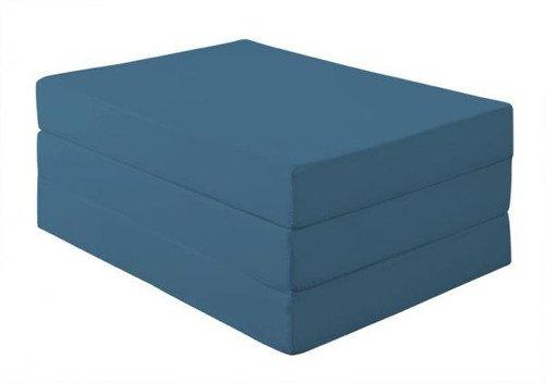新20色 厚さが選べるバランス三つ折りマットレス(12cmシングル) ブルーグリーン【品】 B018G0EUJC ブルーグリーン