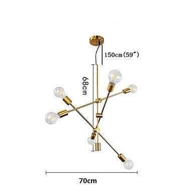 6-Light Chandelier Ambient Light Adjustable Mini Style 110-120V // 220-240V Bulb Not Included // 15-20㎡ // E26 // E27