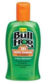 Bull Frog Sunblock, Surfer Formula Gel, SPF 36 5 fl oz (147 ml)