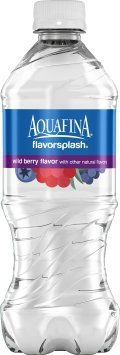 Aquafina Flavor Splash, Wild Berry Flavor, 20 Oz. Bottle (24 Count) Berry Splash