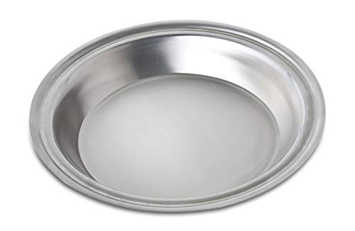 360 Stainless Steel Pie Pan, Handcrafted in the USA, 5 Ply, Surgical Grade Stainless Bakeware, Dishwasher Safe, Professional Grade, Use as Baking Pan, Roasting Pan  (10