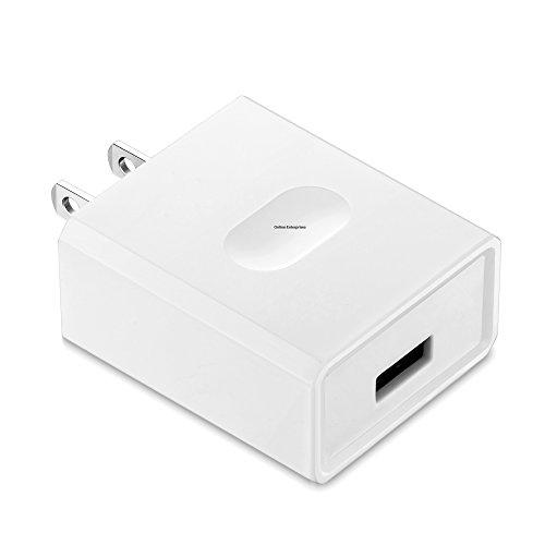 Online-Enterprises Qualcomm Super Quick Charge 3.0 USB Plug ONLY Charger Arlo Pro, Pro 2, Galaxy S8, S8 Plus, LG G6, LG G5, WyzeCam, Amazon Cloud Cam, Yi Dome Cam, Nest Cam (White Plug ONLY- NO Cord)