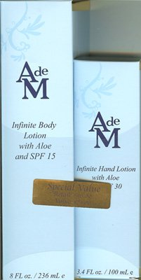 (Special Value! AdeM Infinitie Body Lotion with Aloe and SPF 15 8oz. and Infinitie Hand Lotion With Aloe and SPF 30)