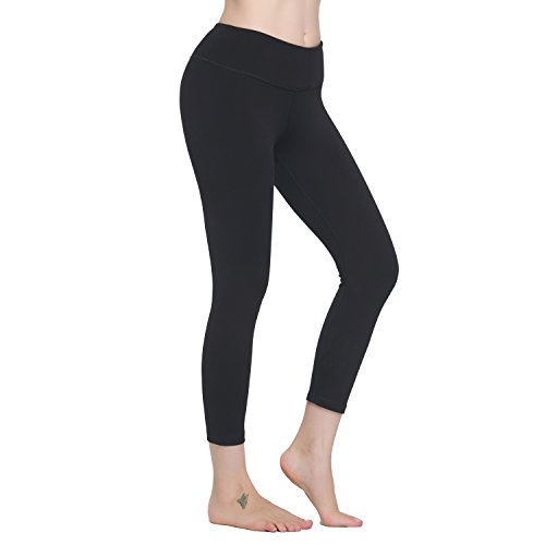 Lover-Beauty Sexy 3/4 Length Leggings Tummy Control Relaxed Running Stretch Tights Capris (Power Stretch Pant 3/4)