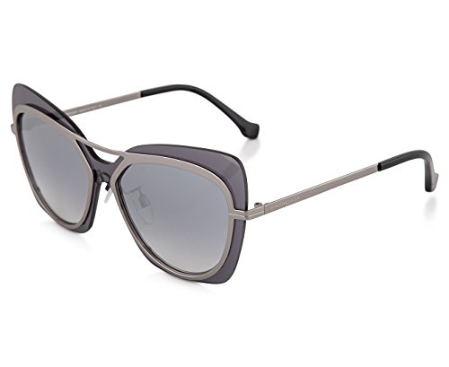 Balenciaga Women's BA0087 Dark Ruthenium Metal/Silver Flash/Smoke - Sunglasses Balenciaga Womens