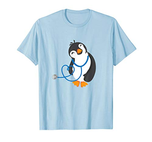 Cute Penguin Pediatrics Medical Nurse Doctor Tshirt T-shirt