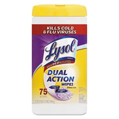 Lysol Dual-Action Disinfecting Wipes, Citrus Scent, 7