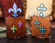 Fleur De Lis Picture Frame With Two Magnets With Crystals