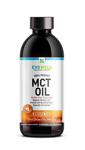 Evowell Clear Mct Oil Medium Chain Triglycerides, 15 Ounce For Sale