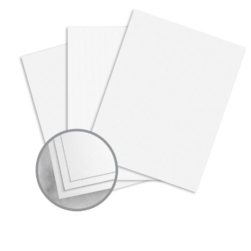 Strathmore Script Ultimate White Paper - 8 1/2 x 11 in 24 lb Writing Pinstripe Vertical Embossed Watermarked 500 per - 24 Ultimate Lb White Writing