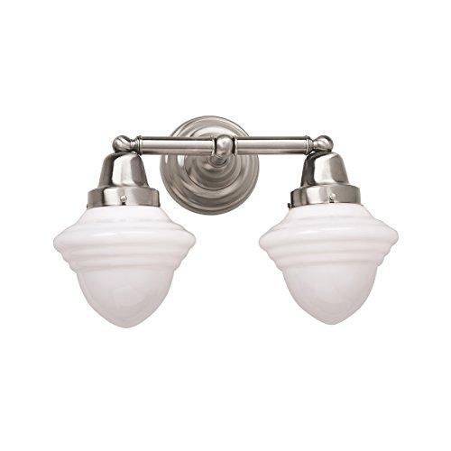 Norwell Lighting 8202-PN-AC Bradford - Two Light Wall Sconce, Finish: PN: Polished Nickel GLASS: Acorn