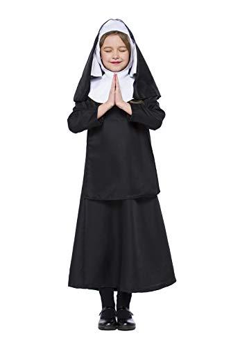 HÖTER Kid's Nun/Sister Halloween Fancy Cosplay Dress Costume ()