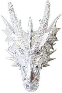 Near and Deer Faux Taxidermy Dragon Head Wall Mount