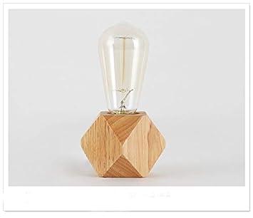 Lámpara de mesa moderna LED que restaura maneras antiguas Madera ...