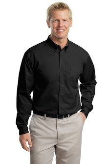 port-authority-mens-port-authority-long-sleeve-easy-care-l-black-light-stone
