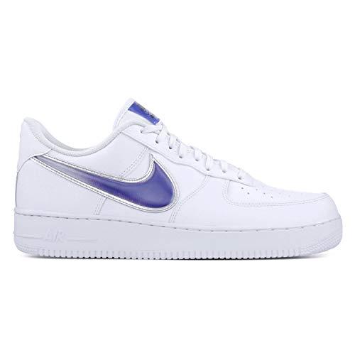 Nike Men's Air Force 1 '07 LV8 White/Racer Blue AO2441-101 (Size: 12)