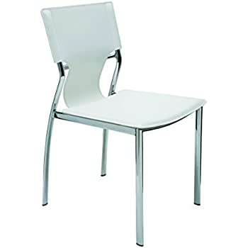 Amazon Com Tanis Dining Chair White Modern Furniture