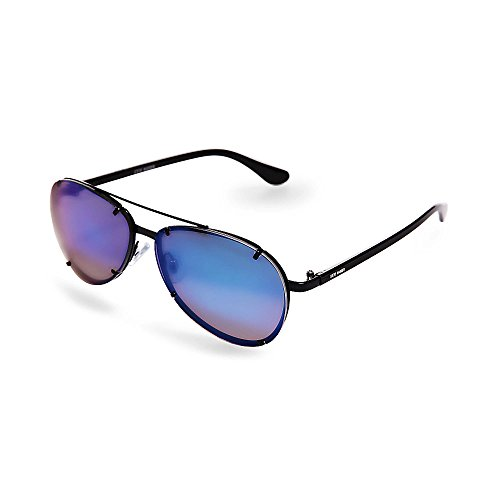 Steve Madden Women's Sm472179 Black Blue 320 - Aviator Steve Madden Sunglasses