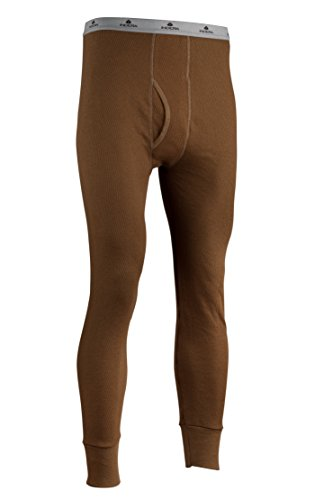 Indera Men's Icetex Cotton Outside/Fleeced Polyester with Silvadur Inside Pant, Khaki, X-Large by Indera