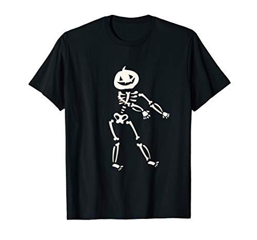 Skeleton Floss Dance Pumpkin Head Vampire Ghoul T-Shirt ()