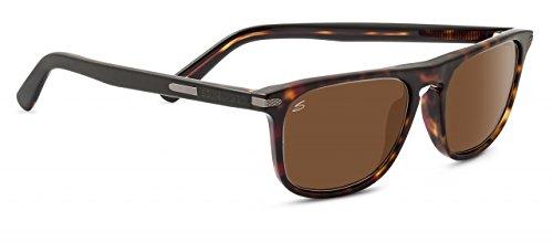 Serengeti 8155 Leonardo Sunglass, Dark Havana Frame, Polarized Drivers - Sunglasses Leonardo