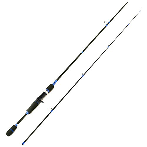 Entsport 2-Piece Casting Rod Graphite Portable Baitcast Rod Inshore Baitcasting Fishing Rod Freshwater Baitcaster Rod Baitcaster (8-20-Pound Test) (7' Medium)
