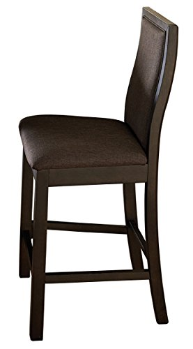 Homelegance Compson Set of Two Wood Framed Counter Height Chairs, Chocolate Brown
