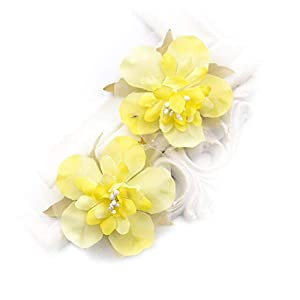 Artificial Flower Fake flowers heads multicolor rayon cherry head wedding party gift boxes decorated wreath DIY festival Home Decor home decoration craft 30PCS 5CM (yellow) 38