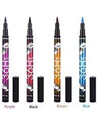 4Pcs Eyeliner Pencil, Waterproof Eyeliner, Lasting Drama 36H Liquid Eyes Pen Eye Liner Pencil