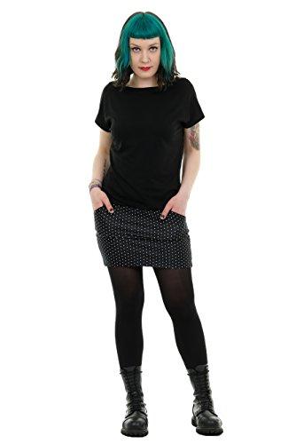 3Elfen Verano Vestido Pixie Mujer Mini Vestidos Brazo Corto producido en Berlín Negro Puntos