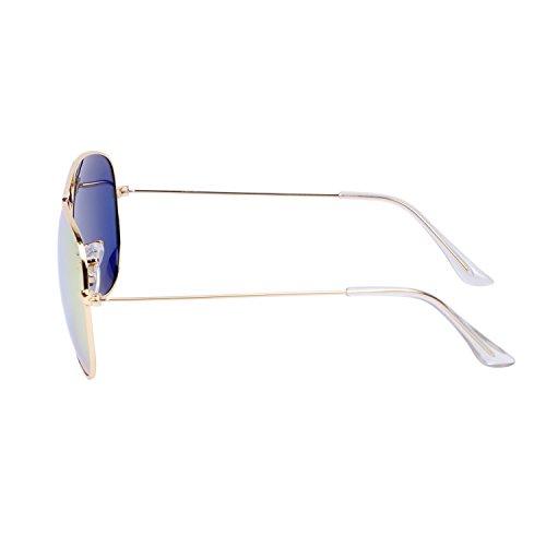 con Efecto el Amarillo Sol Aviador de QIXU Caso UV400 Mujer Gafas y Hombre Polarizadas Lente para Antirreflejante Espejo AzqZ6Uw