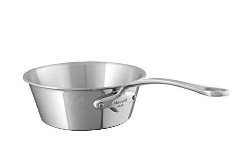 Mauviel Made In France M'Cook 5 Ply Stainless Steel 5223.16 1.0-Quart Splayed Saute Pan with Cast Stainless Steel Handle