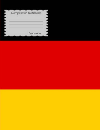 Composition Notebook Germany: Graph Paper Book to write in for school, take notes, for kids, students, teachers, homeschool,German Flag Cover ()