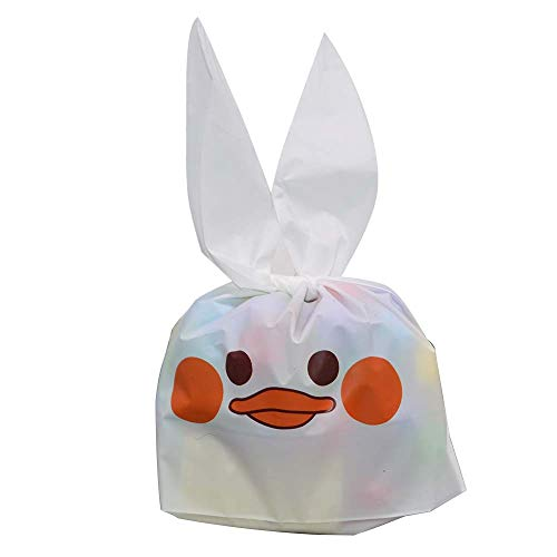 (YONGSNOW 50 PCS Cute Rabbit Ear Cookie Bags Plastic Candy Food Bags Wrapping Treat Gift Bag for Kids Birthday Party Supplies (S08))