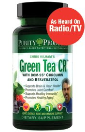 Thé vert CR (thé vert + curcumine + resvératrol) 60 capsules