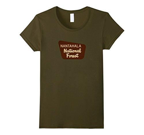 Womens Nantahala National Forest North Carolina Entrance Sign Shirt Medium (North Entrance)