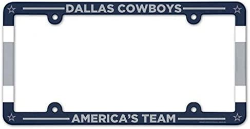 Dallas Cowboys Full Color Plastic License Frame